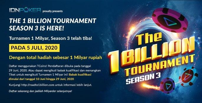 1 BILLION TOURNAMENT POKER PROMOTION